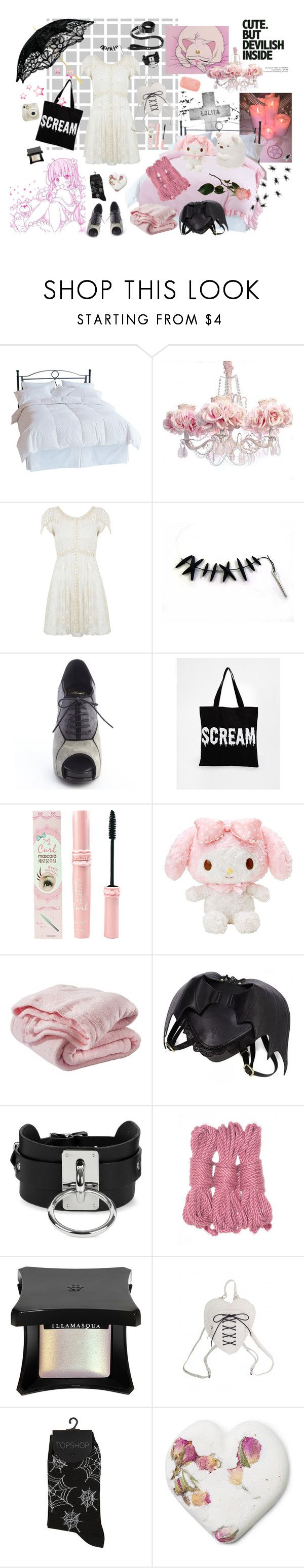 """""""daughter of the bride of frankenstein"""" by demonbabydoll ❤ liked on Polyvore featuring Supersonic, Patagonia, Shabby Chic, Miss Selfridge, Roger Vivier, ASOS, Etude House, Tokyo Rose, Circo and Zana Bayne"""