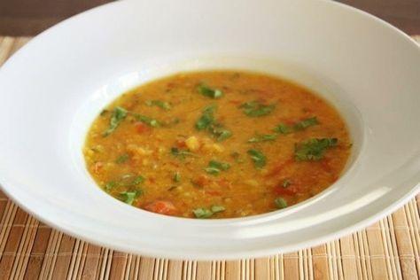 Receita de sopa de lentilha vermelha indiana, Dal