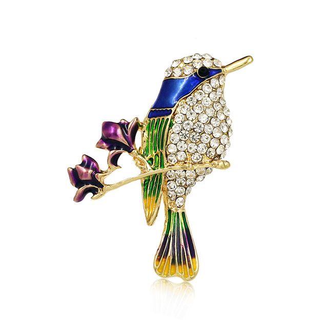 Fashion Womens Rhinestone Bee Butterfly Bird Animal Brooch Pin Jewellery Gift