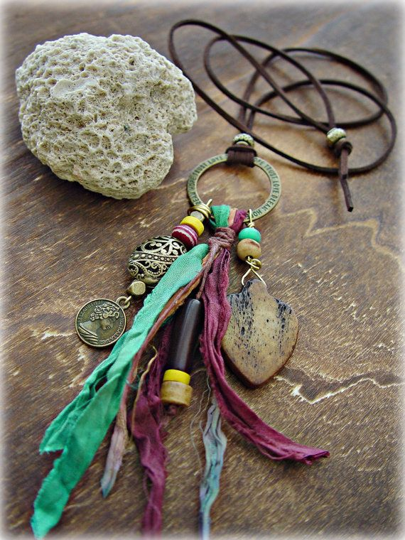 Boho Hippie Necklace  Boho Jewelry  Boho Gypsy by HandcraftedYoga, $42.00