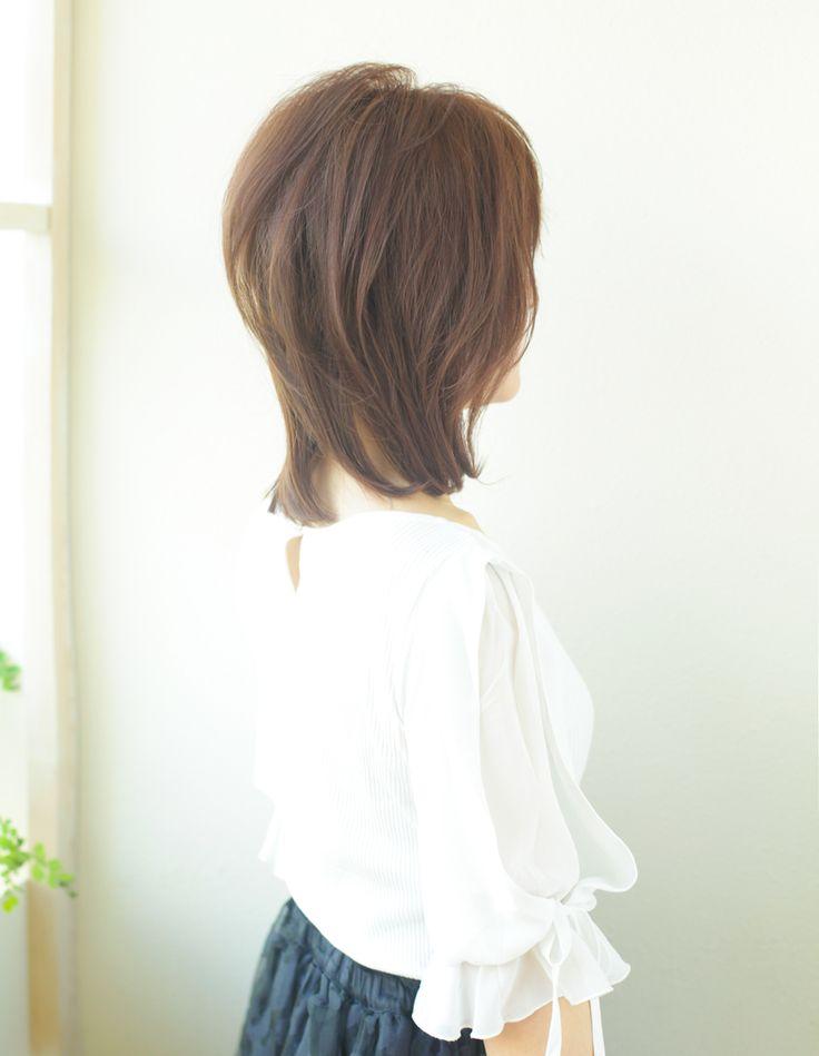 大人、ミセスのミディアムの髪型(YR-349)   ヘアカタログ・髪型・ヘアスタイル AFLOAT(アフロート)表参道・銀座・名古屋の美容室・美容院