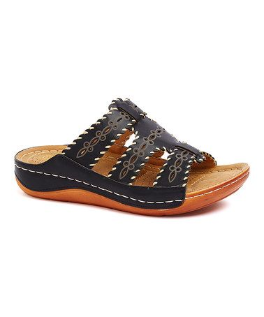 Another great find on #zulily! Black Geometric Sandal #zulilyfinds