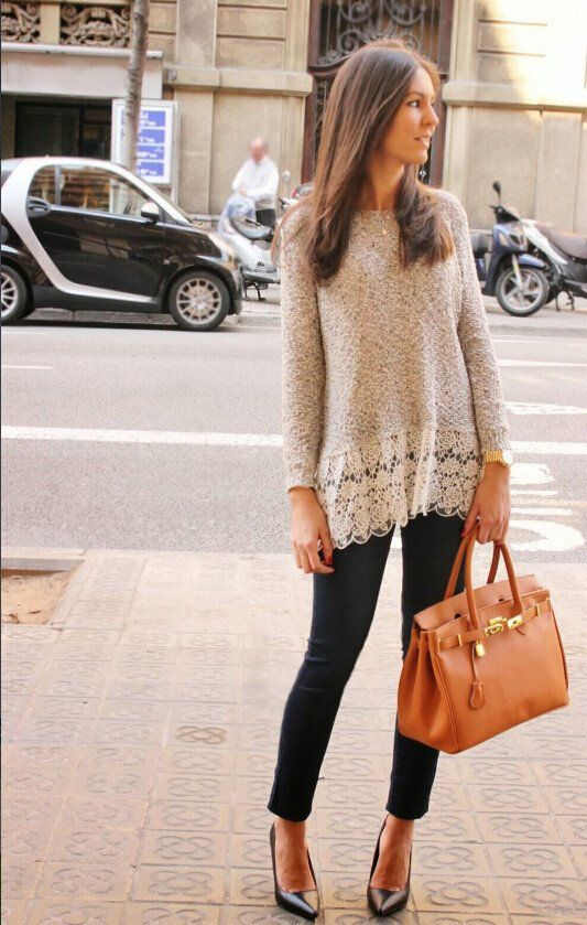 Lace sweater can enhance people's temperament, this is a very beautiful sweater. This is slim sweater, can be a lot of clothes collocation.And this sweater is scooop, it is comfortable to wear. Size:S