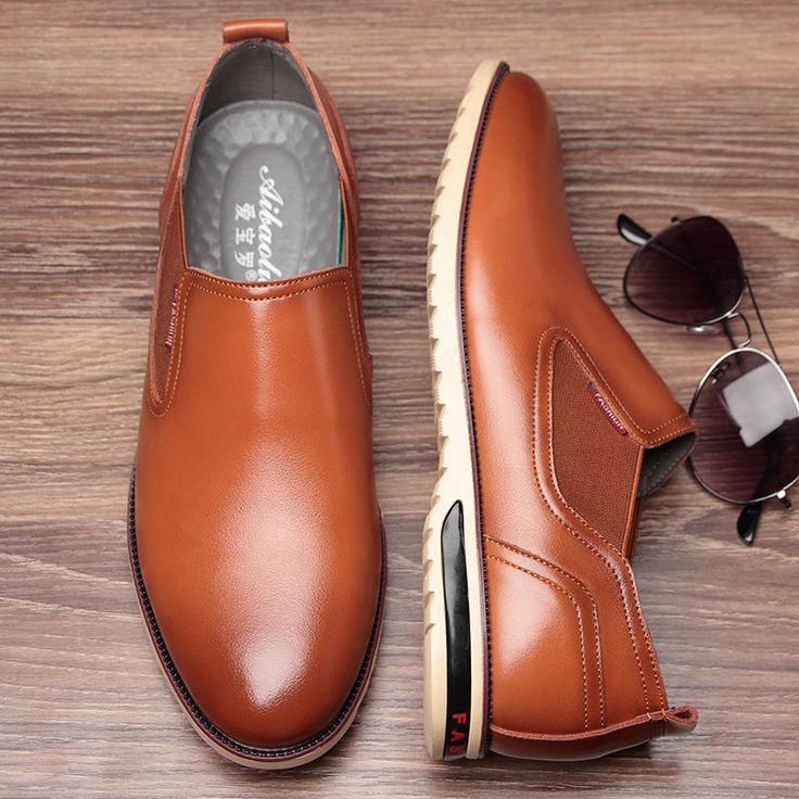 Men Retro Pointed Toe Elastic Panels Slip On Business Casual Shoes Online - NewChic