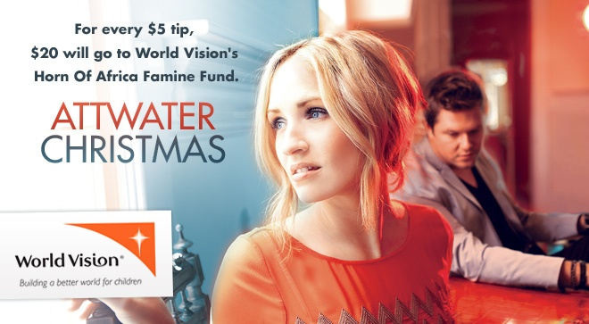 Beautiful Christmas music - and a contribution to World Vision. Thank you, Attwater and NoiseTrade.