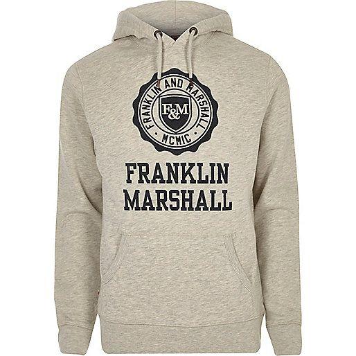 Grey Franklin & Marshall print hoodie - £68