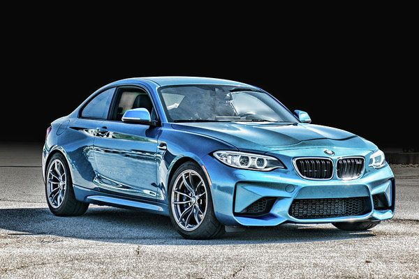 Blue Bmw Art Print by Sharon Popek