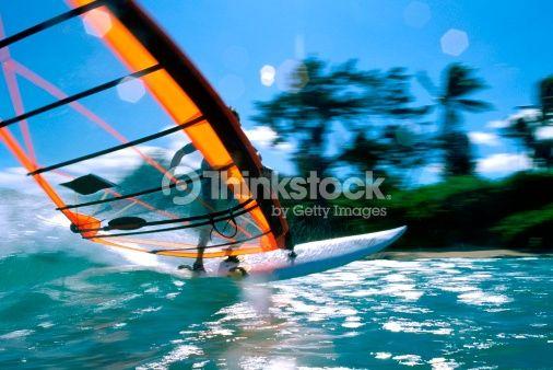Stock Photo : Windsurfing