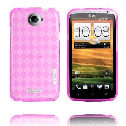 Tuxedo (Läpikuultava Pinkki) HTC One X Skydd