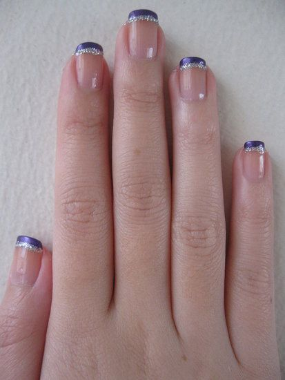 Royal french manicure