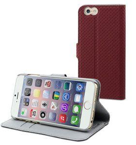 De Muvit Slim Wallet case is een kunstlederen case voor de nieuwe Apple iPhone 6 met extra ruimte voor je pasjes.