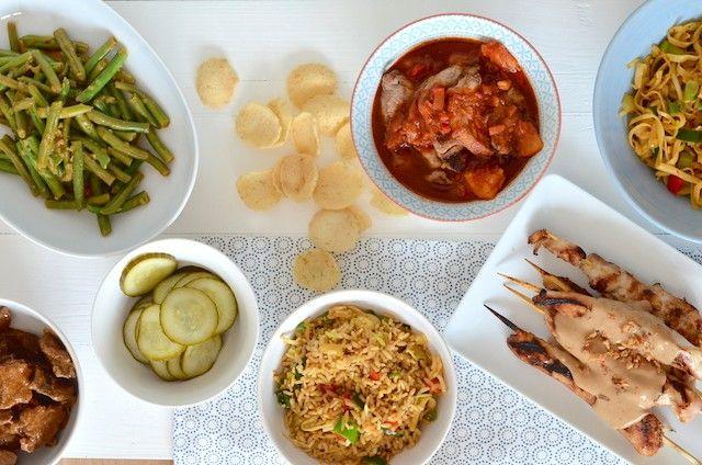 Zelf een Indonesische rijsttafel maken, ik geef je mijn tips en tricks, dan kan het niet mislukken.