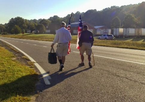 """Vietnam veterans traveling 300 miles by foot for Marine stuck in Mexican prison (Free Beacon) – Marine Corps veterans tired of seeing fellow Marine Andrew Tahmooressi stuck in Mexican prison are traveling nearly 300 miles by foot to Washington, D.C., to tell President Obama to do whatever he has to do to get Mexico """"to ..."""