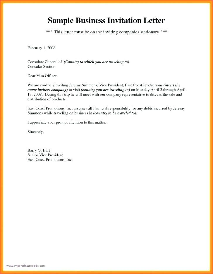 Format Of Business Invitation Email Sample To Invite For A Meeting