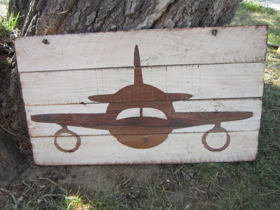Hand Painted Airplane Hanging Wall Decor by girlinair on ...