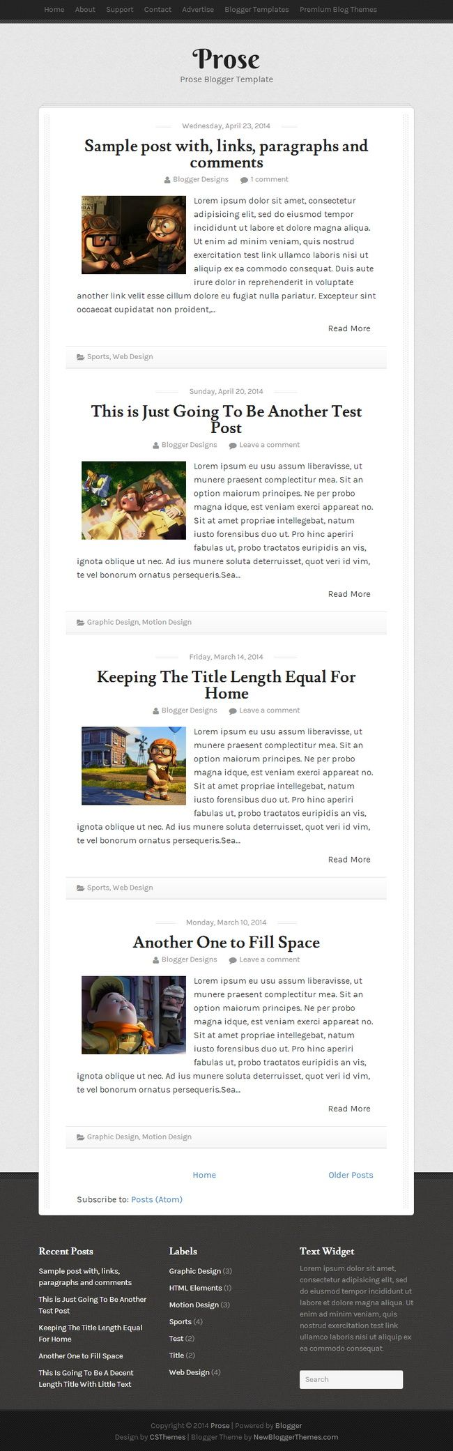 Prose Blogger Template:  Prose Blogger Template is a simple yet elegant single column Blogger template, suitable for personal bloggers. Prose Blogger theme looks great on every devices with responsive design.  http://newbloggerthemes.com/prose-blogger-template/