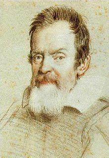 Galilée (savant) — Portrait au crayon de Galilée réalisé par Ottavio Leoni