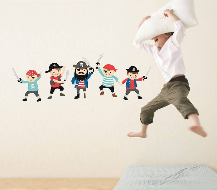 Pirate Wall Stickers from notonthehighstreet.com