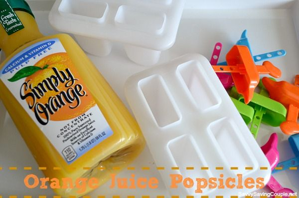 Make Your Own Orange Juice Popsicles YES Cool, delicious OJ for ...