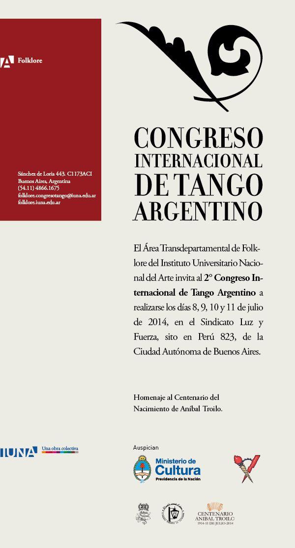 """Participamos del 2° Congreso Internacional de Tango Argentino!!! La ponencia de Tango Sentido es el día miércoles 09 de Julio a las 12:00 pm hs. y en la misma expondremos nuestra experiencia en el proceso de desarrollo de la """"Dinámica de Propuesta Coreográfica Recíproca (DPCR)"""" y reflexionaremos acerca de su enseñanza y aprendizaje.  Los invitamos a todos a compartir esta jornada!!!"""
