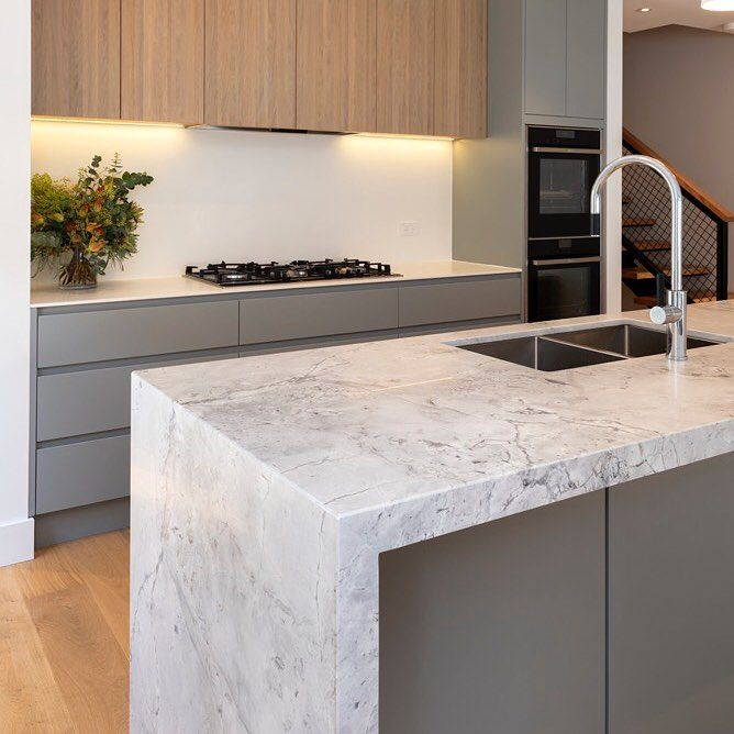 Groovy Can You Believe This Kitchen Is Neolith Carrara It Looks Machost Co Dining Chair Design Ideas Machostcouk