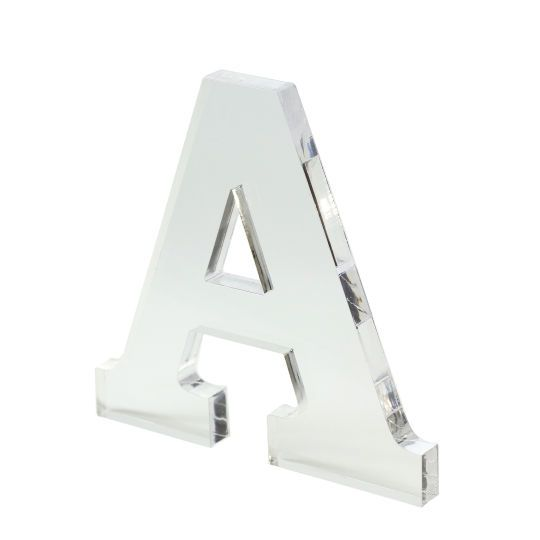 <div>You will love the way this clear acrylic letter looks in your home! Its clean modern lines ...