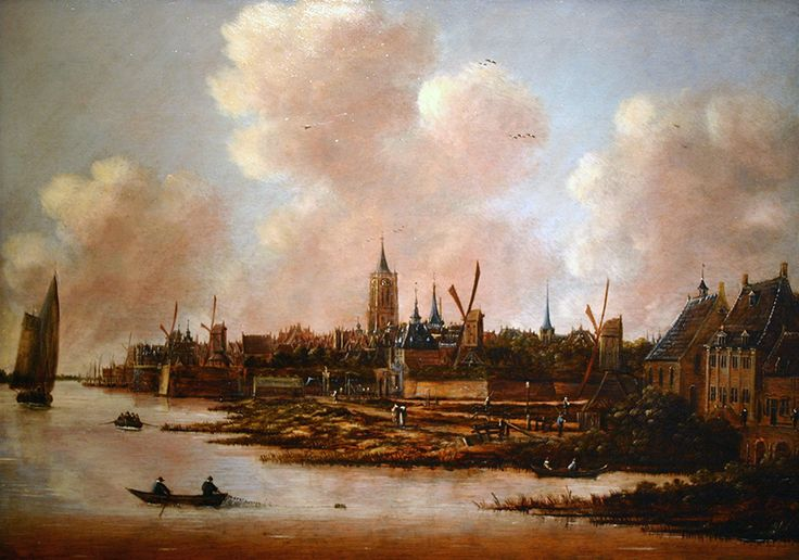 Jan Meerhout - Gezicht op Gorinchem