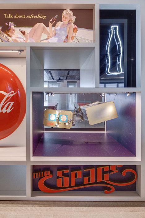 Coca-Cola's new London headquarters is decorated with vintage memorabilia.