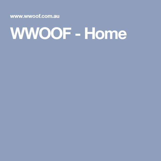 WWOOF - Home