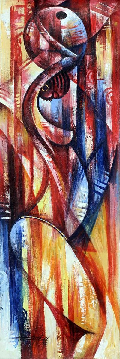 """""""I chose vibrant and strong colors to depict the inner power of #women,"""" says Ghanaian artist Bright Dankyi Mensah."""