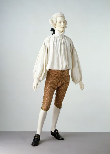 1760-1770, France (woven) Great Britain (made) - Breeches - Silk, silver strips, hand-sewn