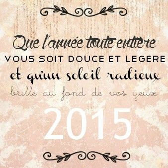 Bonne année ...                                                                                                                                                                                 Plus