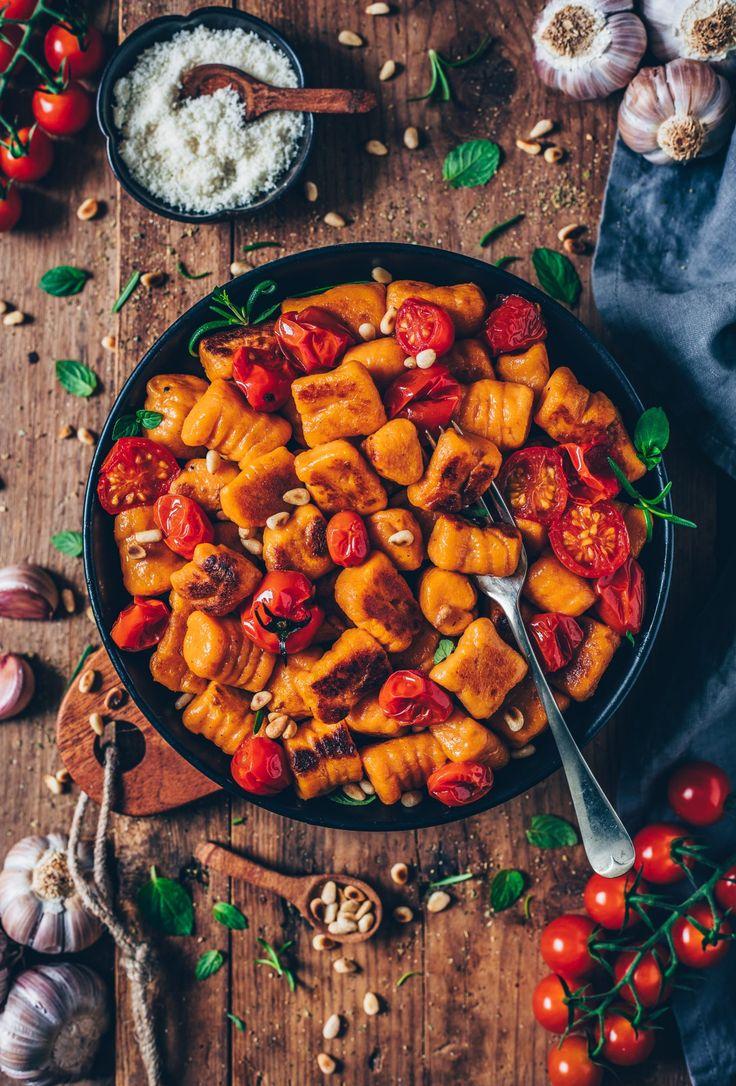 Vegane Süßkartoffel-Gnocchi (einfaches Rezept)