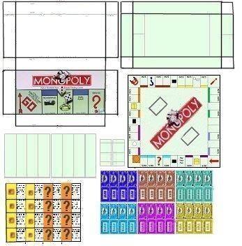 Free mini printable monopoly board