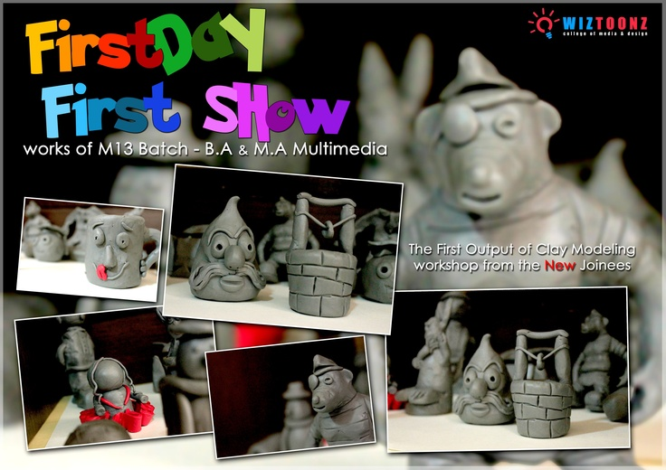First Day First Show with M13 - B.A and M.A Multimedia Batches. #ClayModeling