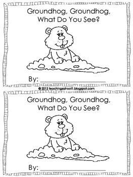 Groundhog Day mini book FREEBIE - Nicole Johnson - TeachersPayTeachers.com