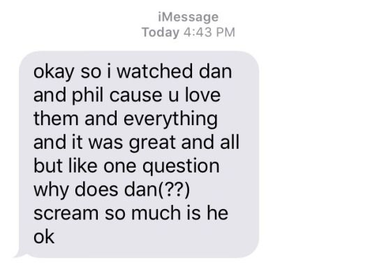 I think this was all of us at the beginning. Of course he's not ok. He's dan. He is the definition of not ok.