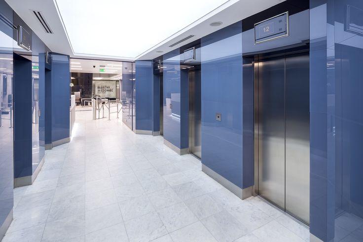 Strefa wejściowa dla First Property w biurowcu Blue Tower / The entrance zone in an office building Blue Tower; Project for First Property