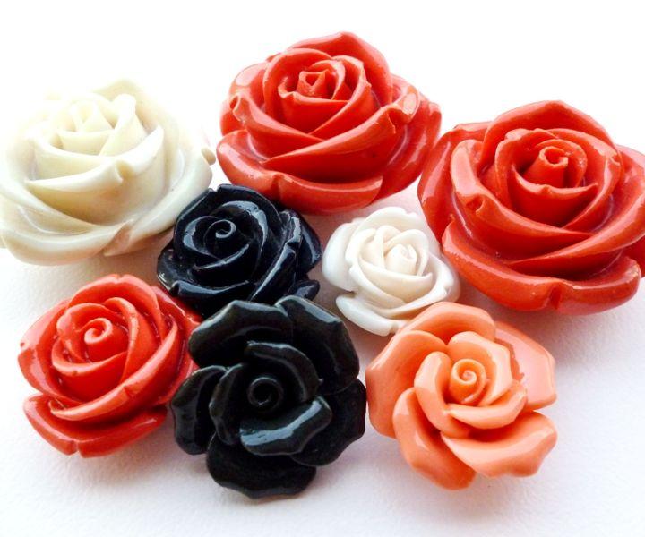 Resin roses #beads #roses #beading