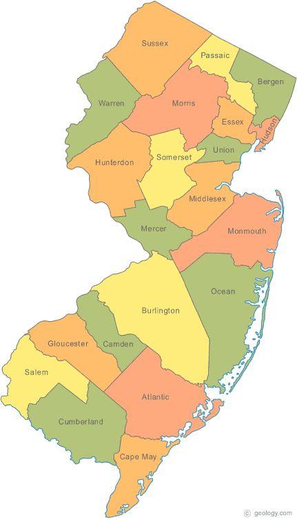 Best New Jersey Ideas On Pinterest Barnegat Bay Nj Shore - Mapa de new jersey
