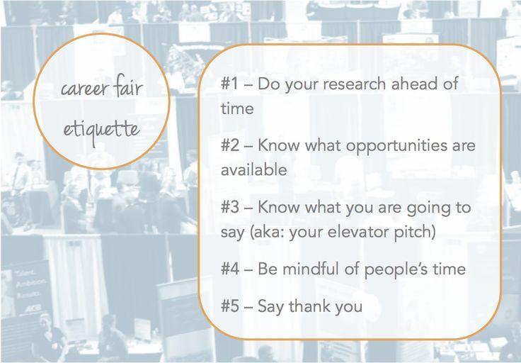 Career Fair Etiquette