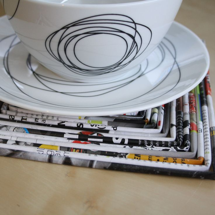 Recycled Magazine trivets