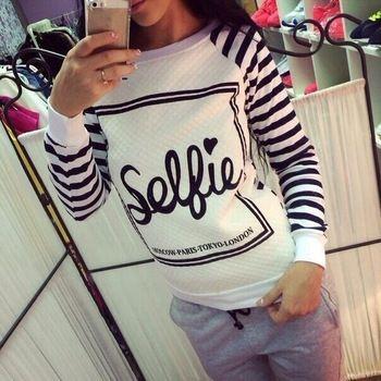 Printed Sweatshirt Hot Sale 2015 Long Sleeve Paris Hoodie Women Spring Plus Size Sudadera Mujer Marca Printed Sweatshirt