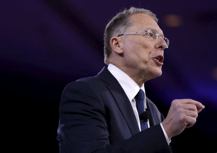 Wayne LaPierre Claims 'Violent' Leftist Protesters Are Paid $1,500 Per Week   The Huffington Post a good occasion to arm everybody - of the GOP.