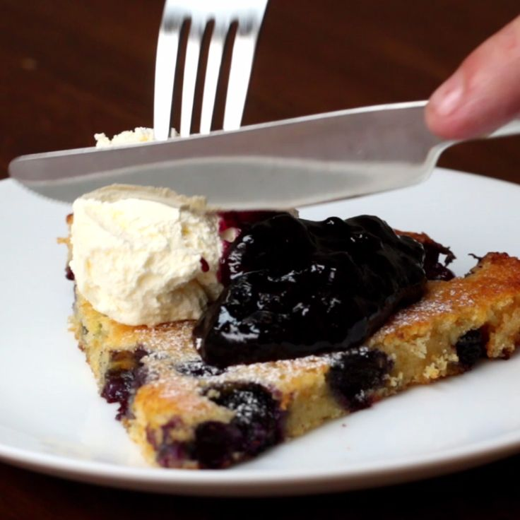 Blueberry Oven Pancake
