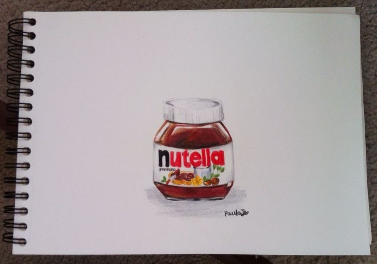 Nutella drawing by me :)