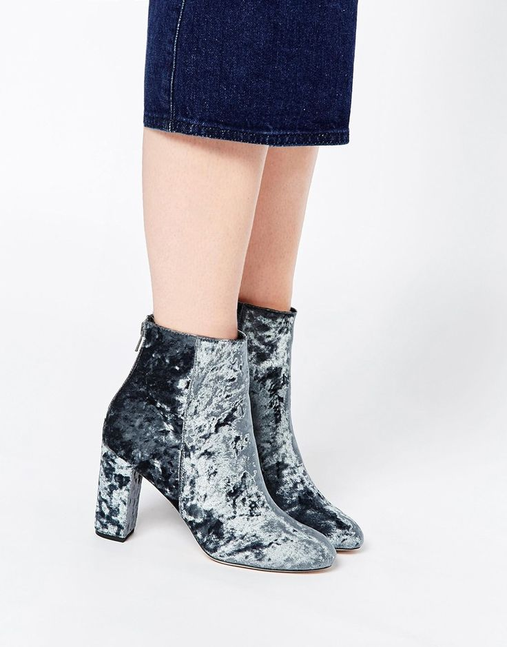 """ASOS End It On This Ankle Boots £45 (velvet, 3"""" heel)"""