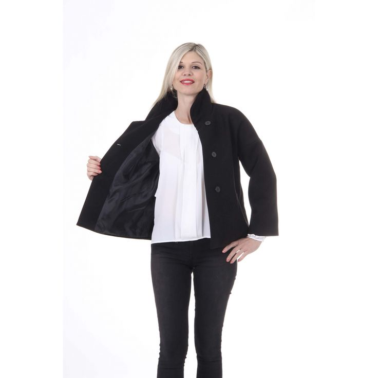 Versace 19.69 Abbigliamento Sportivo Srl Milano Italia Womens Jacket MANTELLA ROSANNA TESS. VELOUR NERO