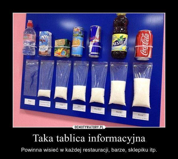 Taka tablica informacyjna – Powinna wisieć w każdej restauracji, barze, sklepiku itp.