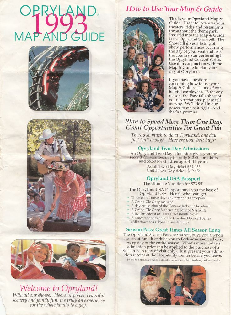 Best Theme Parks Of Days Gone Bye Images On Pinterest - Map of all us theme parks